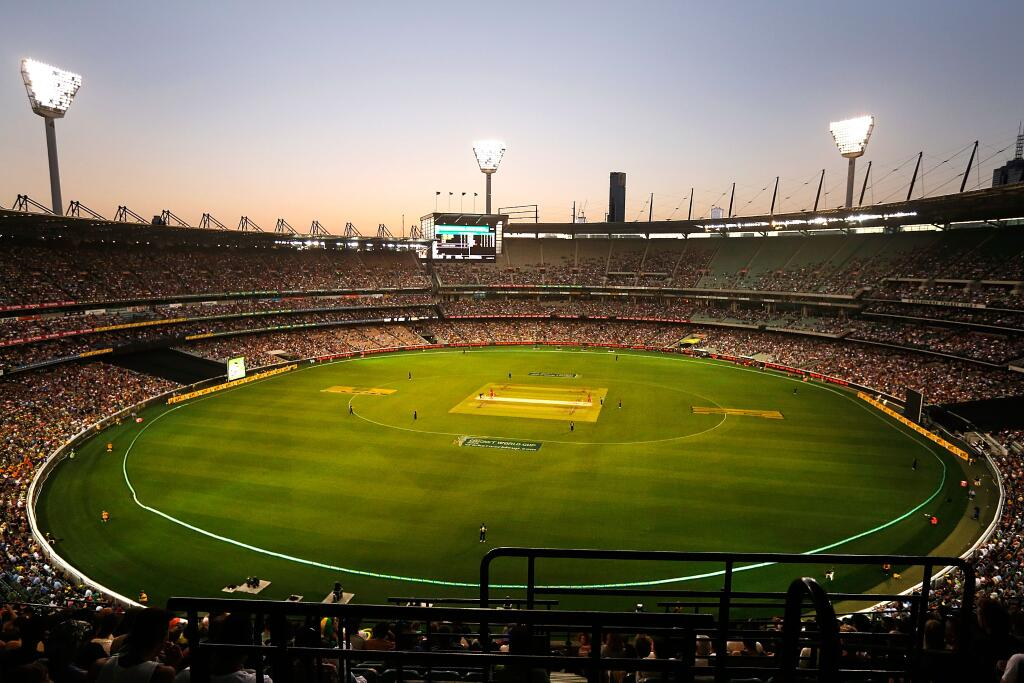 Another big MCG night - 64385 to see Australia winning pretty comfortably. Image: Cricket Australia via Twitter