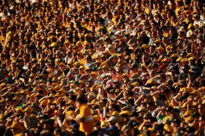 Packed house, afternoon rugby. Is there anything better? Image via Wallabies Facebook.