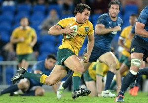 """...players such as Nick Phipps (pictured), Liam Gill, Matt Toomua and Israel Folau, who don't tick either of the '60+7' boxes, may now be subject to ever-more lucrative offers to head overseas."" Image via Wallabies Facebook"