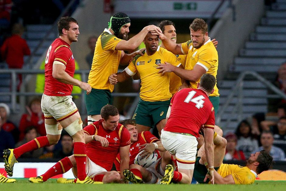 The Wallabies' defensive effort to beat Wales at Twickenham was just outstanding. Image: ABC Grandstand