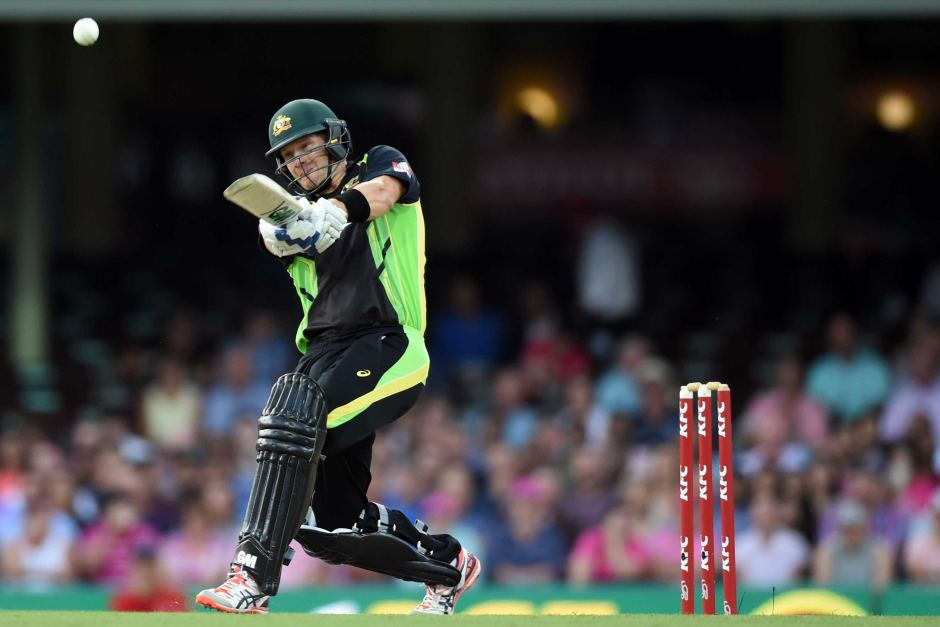 Shane Watson's form incline means he probably should open with David Warner at the WT20. Image: ABC Grandstand