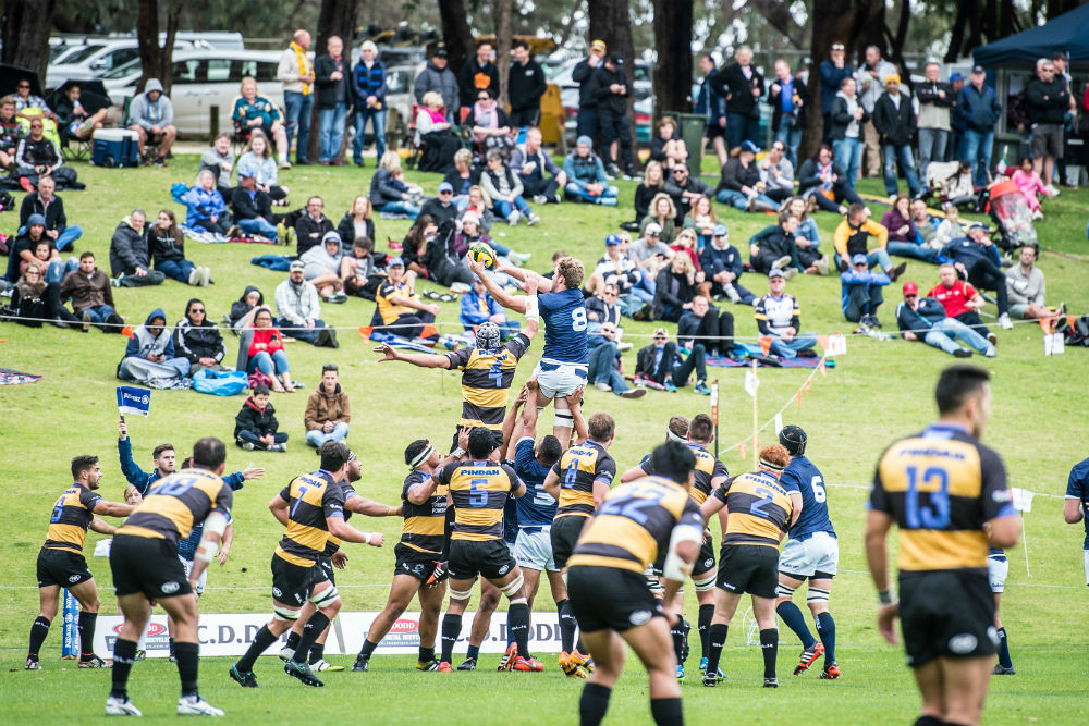 A healthy crowd was on hand at UWA to see Perth Spirit's big win. Image: ARU Media/Stu Walmsley